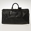 Louis vuitton black epi leather keepall 50 travel bag.