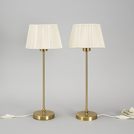 "A pair of josef frank ""model 2332/2"" table lamps, firma svenskt tenn."