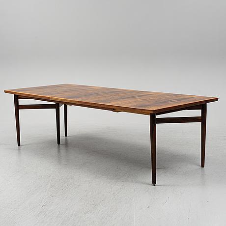 Arne vodder, a rosewood veneered dining table from sibast, denmark, 1950's/60's.