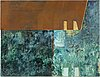 Jette l ranning, oil/mixed media/metal signed and dated -86 verso.