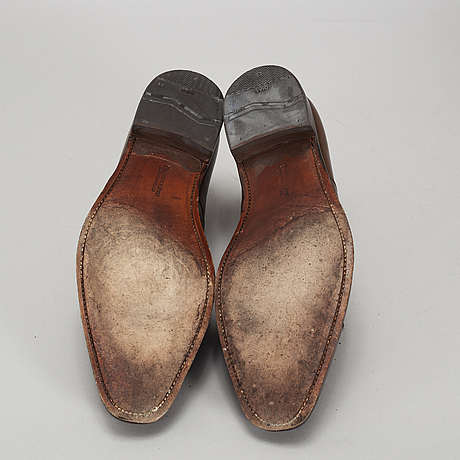 Crocket & jones, a pair of 'hallam dk brown' shoes, england, size 45 (10,5).