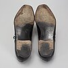 Crocket & jones, a pair of 'clifford black leather sole' shoes, england, size 45 (10,5).