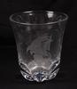 Vas, glas, vicke lindstrand, orrefors. sign o numr 1404.