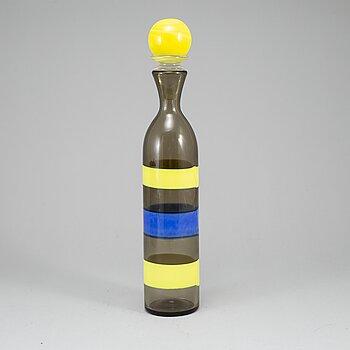 A glass bottle, Venini Murano, second half of the 20th century.