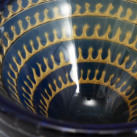 """Edvin ÖhrstrÖm, an """"ariel"""" glass bowl, orrefors 1974."""