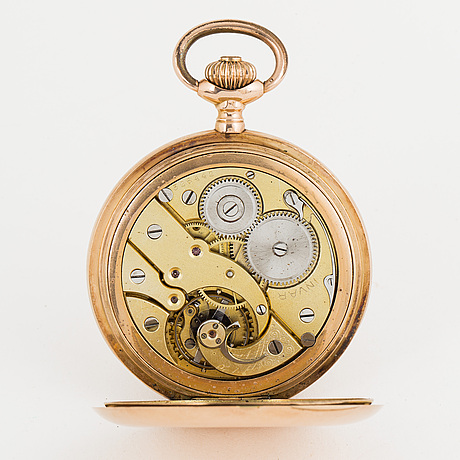 Invar, pocket watch, hunter, 53 mm.