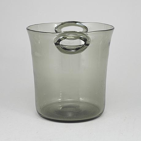 Nils landberg, a glass champagne/wine cooler, orrefors, 1950's.