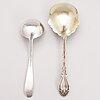 SkÅl, serveringssked och sÅsslev, sterling silver, new york och baltimore, usa 1900-talets första hälft.