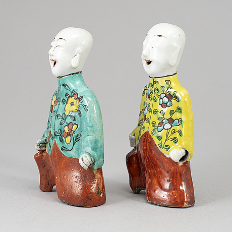 Two famille rose figures, qing dynasty, 19th century.
