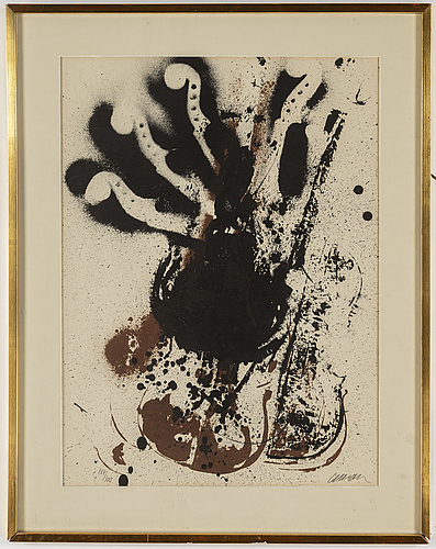 Fernandez arman, lithograph in colours, 1970, signed 264/300.