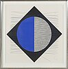 JesÚs rafael soto, lithograph in colours signed and numbered 93/95.