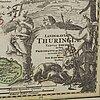Map, thüringen germany / 'landgraviat thuringiae', hand-colored, dated 1729.
