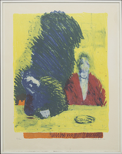 Peter dahl, lithograph in colours signed and numbered 131/160.