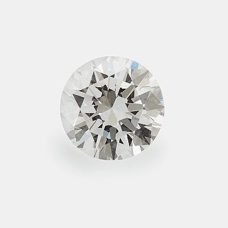 A loose round brilliant-cut diamond weight 0.55 ct quality ca d/e if.