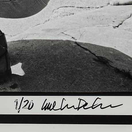 Carl johan de geer, photograph, signed carl johan de geer and numbered 1/20.