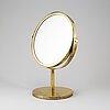 Hans-agne jakobsson, a polished brass table mirror, model s 42, markaryd, sweden.