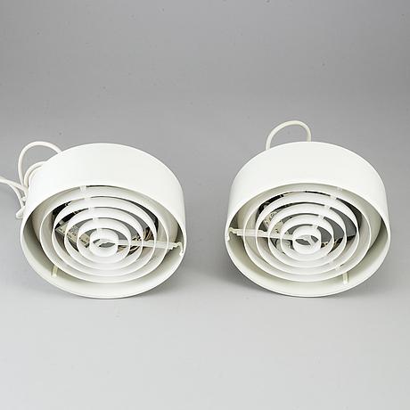 Anders pehrson, a pair of 'bumlingen' ceiling lamps, ateljé lyktan, Åhus.