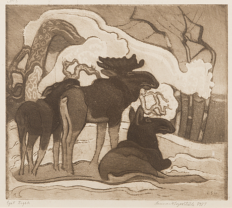 Lennart segerstrÅle, etching, signed and dated 1924.