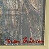 Sven x:et erixson, tempera on paper/panel, signed.