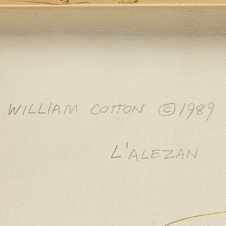 William cotton, oil on canvas, signed.