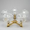 Hans-agne jacobsson, a model 'pastoral' t376/5 ceiling lamp, markaryd, second half of the 20th century.