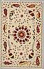 Matta, broderad slätväv, ca 301 x 199 cm.