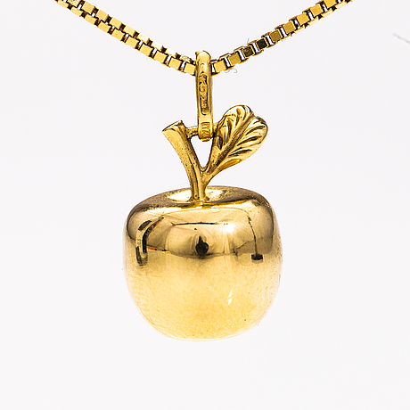 A 14k gold necklace. finland.