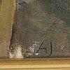 Alvar jansson, oil on canvas/panel, signed.