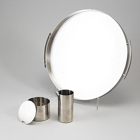 Arne jacobsen, five stainless steel items, 'cylinda', stelton, denmark.