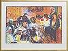 Peter dahl, color litograph, signed, e.a.