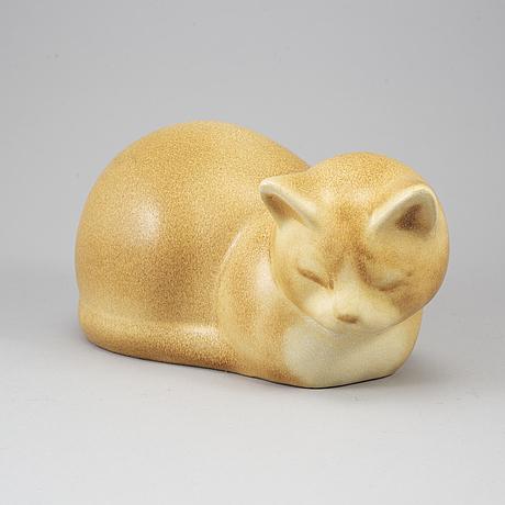 Lisa larson, a 'moses' stoneware figurine, k-studion, gustavsberg.