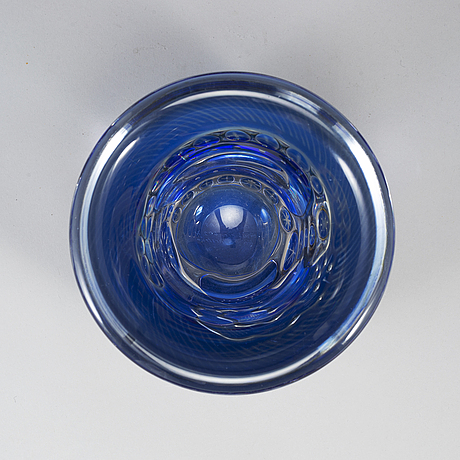 Edvin ÖhrstrÖm, an 'ariel' glass vase from orrefors, sweden 1961.