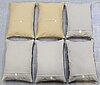 Six kilim cushions, around 70 x 50 cm.