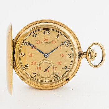 IWC, pocketwatch, 51.5 mm, hunting case.