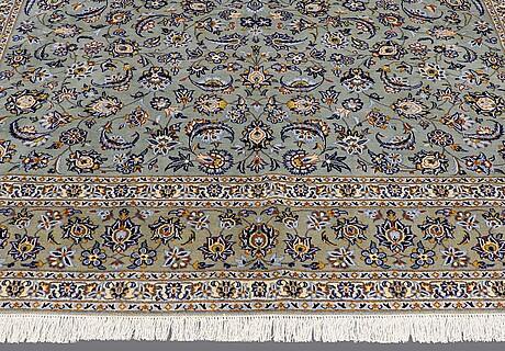 A carpet, keshan, ca 396x  306 cm.
