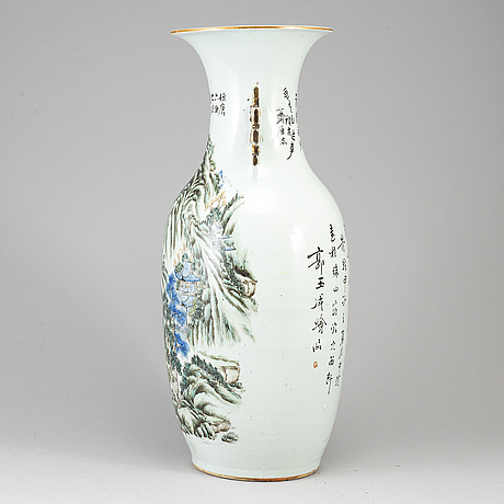 A large famille rose floor vase, china, early 20th century.