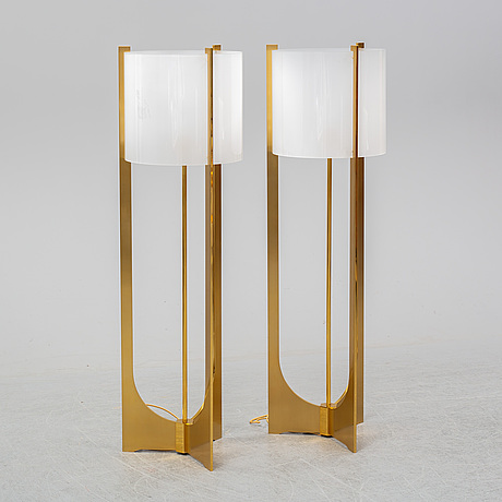 A contemporary pair of 'arceaux' floor lights by jacques charles for charles paris.