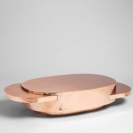 """Gabriella crespi, a low table """"elisse"""", from the series """"new bronze age"""", gallery rita fancsaly, milan 2015, nr 2 in an edition of 9."""