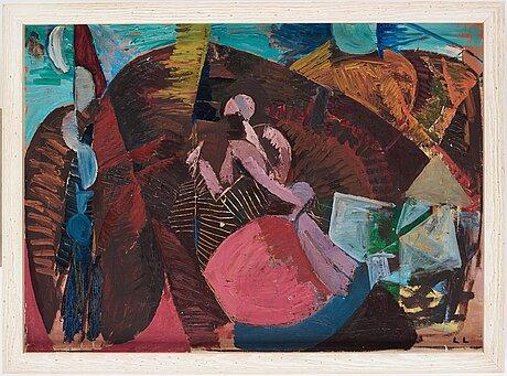 Lage lindell, oil on canvas, signed.