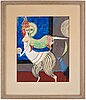 Max walter svanberg, gouache, signed max walters and dated 52.