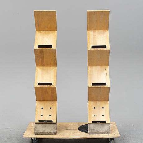 Jonas bohlin, a pair of 'zink' shelves from källemo, värnamo, designed in 1984.