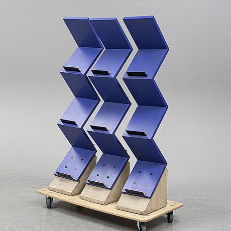 Jonas bohlin, three 'zink' shelves from källemo, värnamo, designed in 1984.