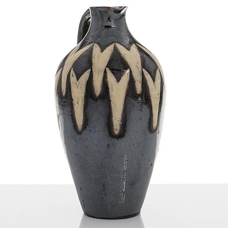 Gerda thesleff, a ceramic jug, signed gt.
