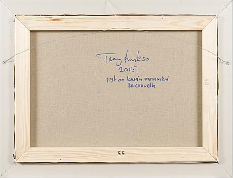 Terry laakso, olja på duk, signerad och a tergo daterad 2015.