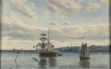 Theodor valenkamph, oil on canvas, signed and dated 1890.