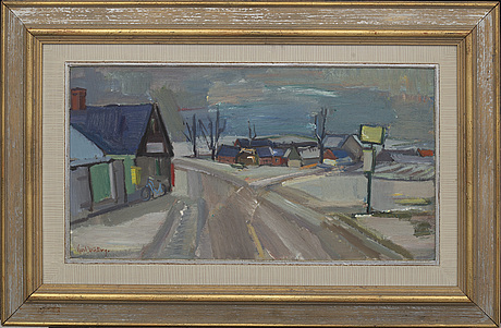 Gerhard wihlborg, oil on panel signed.