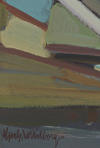 Gerhard wihlborg, oil on canvas signed.