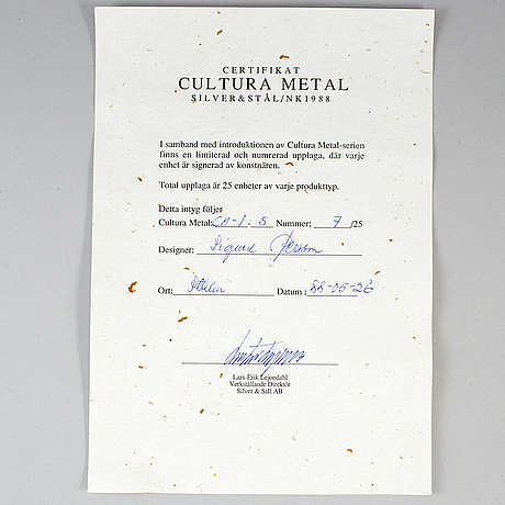 Sigurd persson, two 'cultura' plates, 1988.