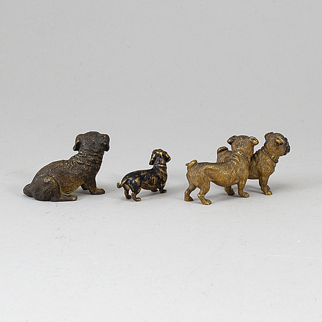 3 bronze figurines, first half of the 20th century.