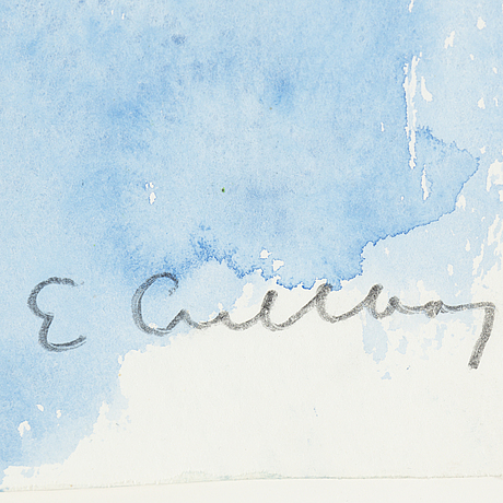 Erland cullberg, watercolor, signed.
